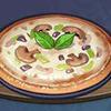 烤蘑菇披薩