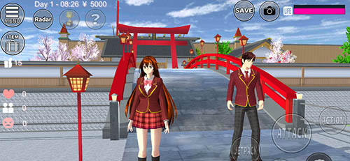 櫻花校園模擬器雙人版截圖1