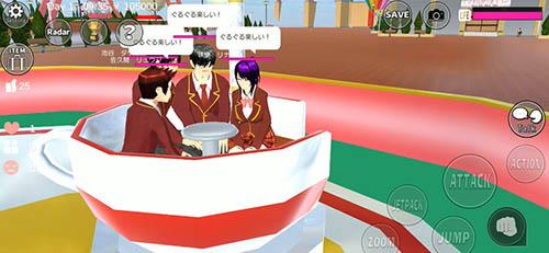 櫻花校園模擬器雙人版截圖2