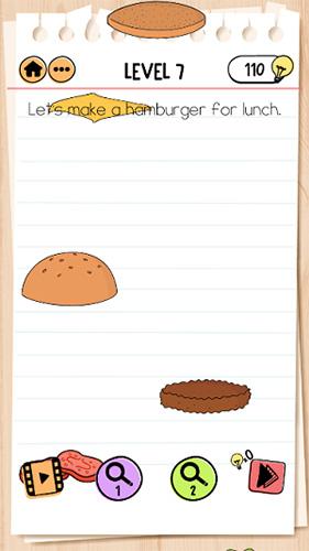 Brain Test 2艾米丽第7关怎样过 汉堡包当午饭通关攻略
