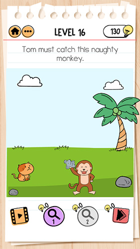 Brain Test 2汤姆的冒险第16关怎样过 捉住调皮鬼猴子攻略