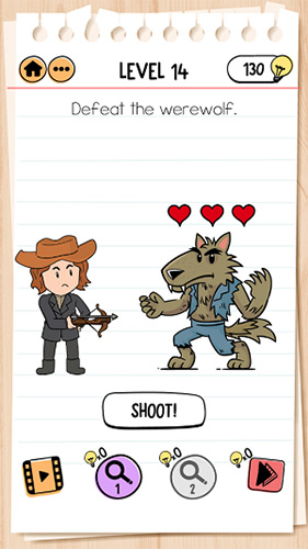Brain Test 2怪物和猎人乔第14关怎样过 击败狼人攻略