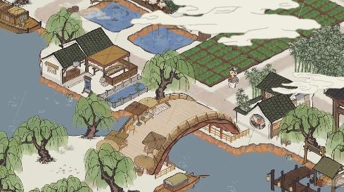 江南百景图金画轴图片