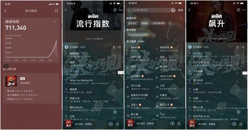 """《決斗場見》在QQ音樂平臺""""巔峰榜流行指數""""第三位"""