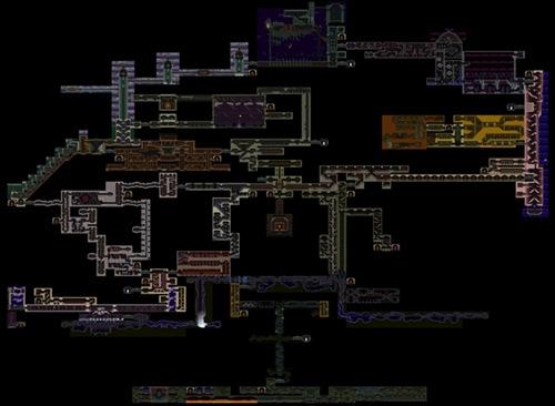 《月下夜想曲》的地图