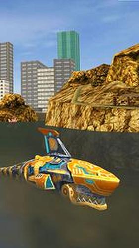 机器人鲨鱼3无限金币钻石版截图1
