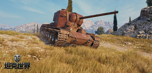 《坦克世界》巨兽KV-5满血回归 2D风格红色要塞等你赢