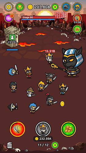 放置战斗英雄无限金币版截图2