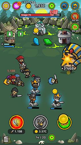 放置战斗英雄无限金币版截图1