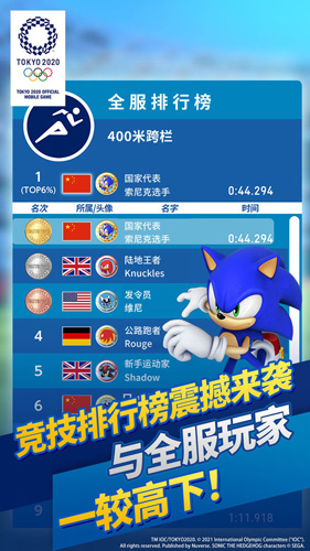 索尼克在2020東京奧運會截圖5