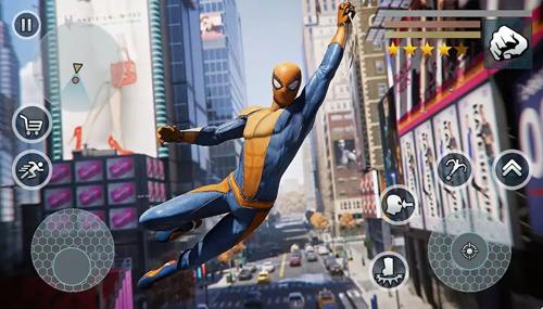 超級蜘蛛繩英雄無限金幣版截圖1