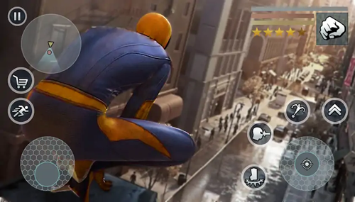 超級蜘蛛繩英雄無限金幣版截圖2