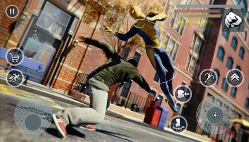 超級蜘蛛繩英雄無限金幣版截圖4