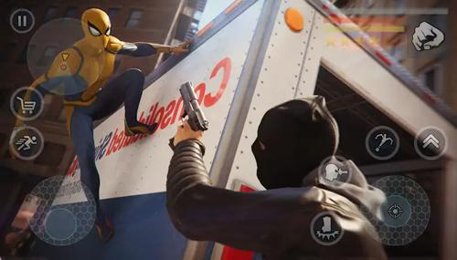 超級蜘蛛繩英雄無限金幣版截圖3